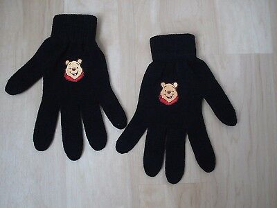 Winnie the Pooh women's winter gloves black knit