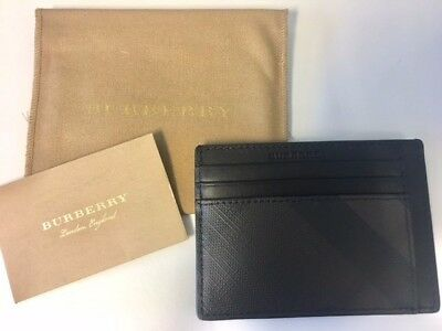 NEW Burberry London Check Leather Card Case, $195 Retail