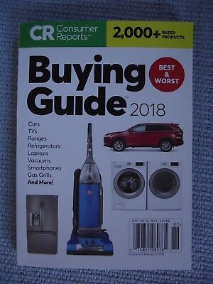Consumer Reports BUYING GUIDE 2018 - Paperback – Free Shipping