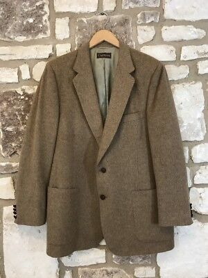 Rare Vintage Cuzzens LANVIN Men 48 Brown  Scottish Camel Hair Blazer Sport Coat