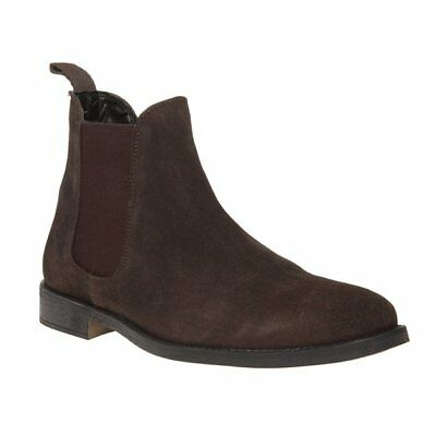 New Mens SOLE Brown Fleet Suede Boots Chelsea Elasticated Pull On