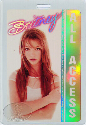 BRITNEY SPEARS 1999 Baby One More Time Tour Laminated Backstage Pass