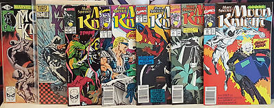 Moon Knight 14 Book Comic Book Collection Lot First Series And Marc Spector