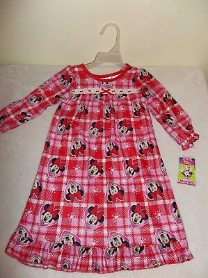 Toddler Night gown Pajama MINNIE MOUSE size 24 mo or 3T Sleepwear New