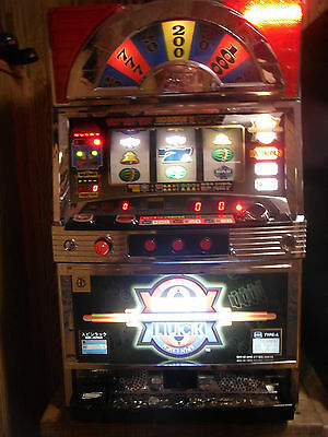 SPIN LUCK= Pachislo TOKEN Slot Machine=many tokens=TOP#1 SLOT BY IGT