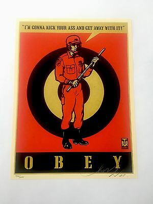 Obey Riot Cop (20th Anniversary Edition) Signed Print Ltd/600