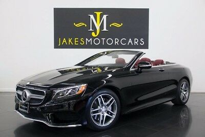 2017 Mercedes-Benz S-Class S550 Cabriolet Sport Pkg. DESIGNO ($147K MSRP) 2017 S550 CABRIOLET~SPORT PKG~DESIGNO! ~$147K MSRP~ONLY 1700 MILES!~BLACK ON RED