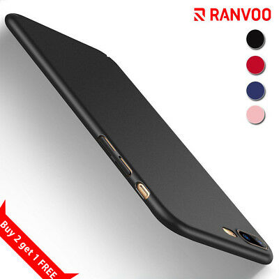 RANVOO iPhone 7 Plus 8 Plus X Case Slim Ultra Fit Shockproof Bumper Hard Cover