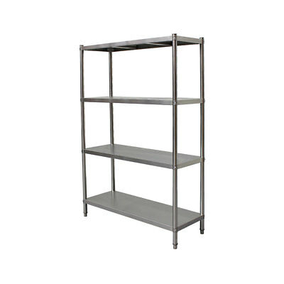 1200x450x1800mm Stainless Steel Shelves 400 kg Load Coolroom Kitchen Storage