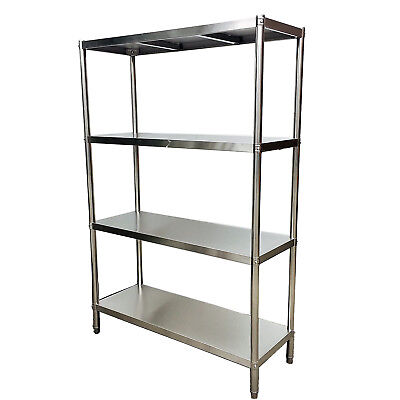 1500x450x1800mm Stainless Steel Shelving Industrial 400 kg Load Coolroom Shop