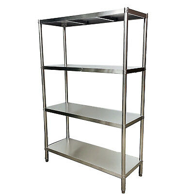 1500x450x1800mm Stainless Steel Shelving Unit 400 kg Load Coolroom Shop Kitchen
