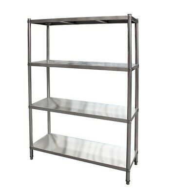 1700x450x1800mm Stainless Steel Shelving 400 kg Load Coolroom Kitchen Shelves