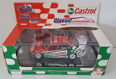 1:43 Classic Carlectables Russell Ingall 2002 Castrol Holden VX Commodore #8