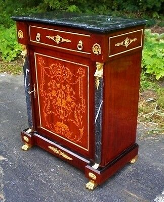 Stunning Louis XV style credenza commode marble top