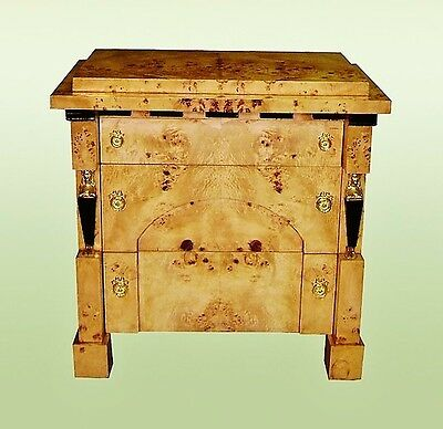 Absolutely gorgeousl burl Elm Biedermeier Style commode