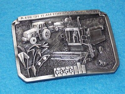 """Case IH 1985 """"A Fresh Team For Today Farmer"""" 1st Belt Buckle By Case IH Limited"""