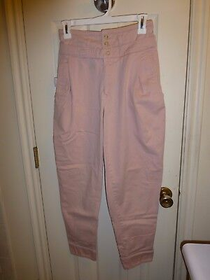 vintage 1980s Bugle Boy pink pants, pleated front, high waisted, tapered leg