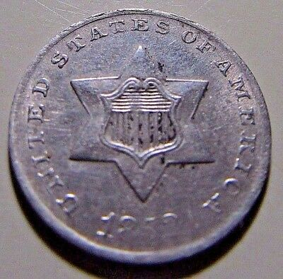 Nicer...1852  3 Cent Silver Trime***VF Or So Details Rare Coin****