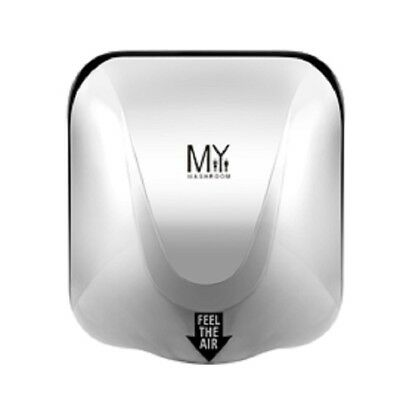 Wall Mounted Quick Automatic Polished Hand Dryer Commercial Grade Silver