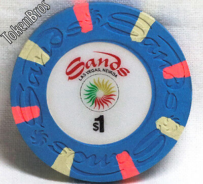 $1 ONE DOLLAR GAMING POKER CHIP SANDS HOTEL CASINO LAS VEGAS 17th ISSUE NEW
