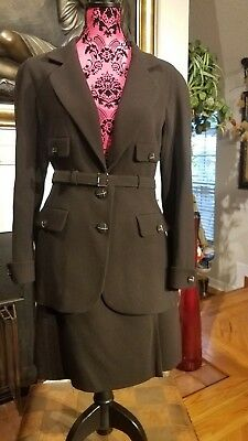 NWT Chanel Black Suit Set 07A With Belt, Skirt, and Jacket Size 46