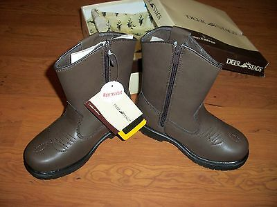 NWT,Deer Stag Western boots,side zip,size 13, 1, 1.5, 2, 3, 3.5, 4, 4.5, 5, 7