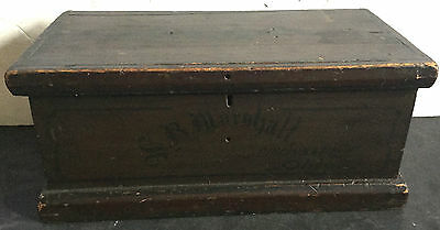 c1800s Apple Horticulturalist Doctor's? Old Box Painted Name  Cincin Ohio
