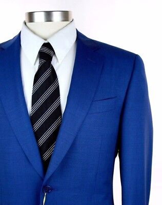 NWT $2195 CANALI 1934 Travel Blue All-Season Wool 2Btn Flat Front Suit 50 40 R