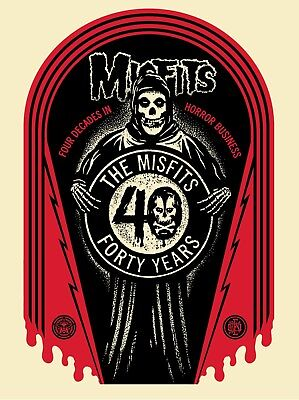 Misfits 40th GRAVE Screen Limited Edition Shepard Fairey Obey Giant