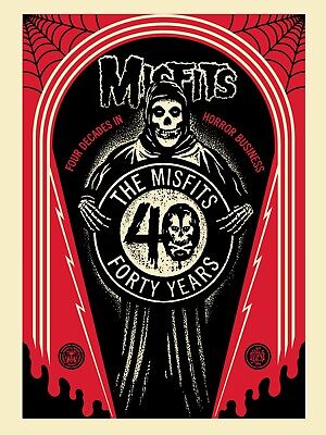 Misfits 40th CRYPT Screen Limited Edition Shepard Fairey Obey Giant