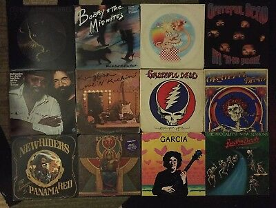Grateful Dead, Bob Weir, Jerry Garcia And New Riders 12 Vinyl Album Record Lot