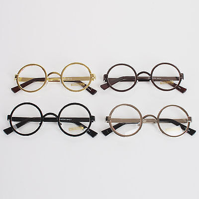 Nerd Clear Lens Spectacles Vintage Nerd Classic Metal Frame Glasses