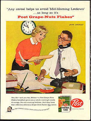 Avoid Mid-Morning Letdown - Dick Sargent - 1958 Life AD - Grape-Nuts Flakes