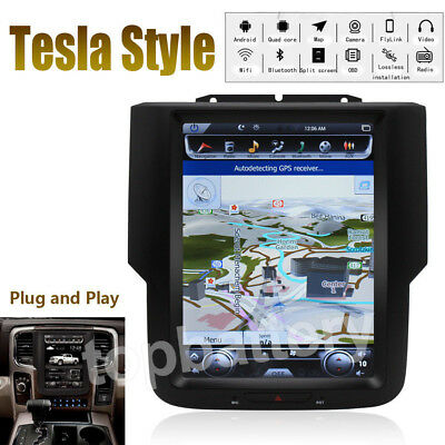 "10.4"" Tesla Style Car GPS Stereo GPS Navigation HD For Dodge Ram 1500 2014-2018"