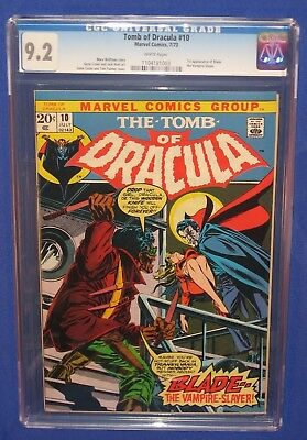 Marvel Tomb of Dracula #10 Comic Book CGC Grade 9.2 First Appearance Blade 1973
