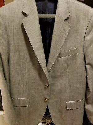 Oliver wicks light gray wool suit jacket sport coat 41R 42R