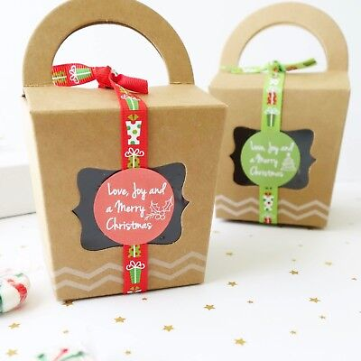 10x Christmas Gift Boxes Cookie Cupcake Box Merry XMAS Sweets Treats Lolly Gifts