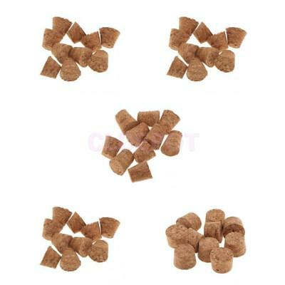 10pcs Natural Cork Tapered Corks Wooden Wine/Beer Bottle Stoppers Bungs