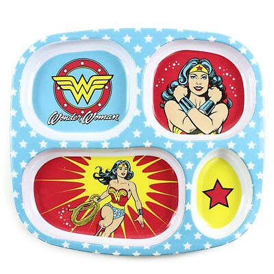Bumkins DC Comics Wonder Woman Melamine Divided Plate