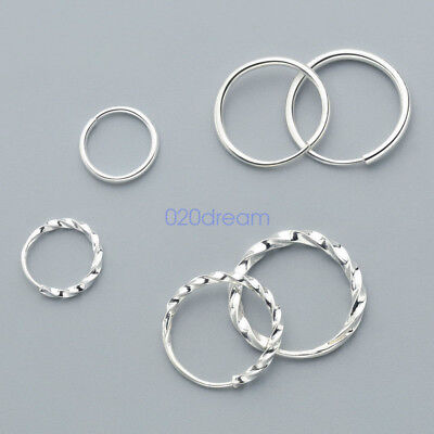S925 Sterling Silver Earrings Ear Piercing Studs Ear Clip Hoop Certified Sterile