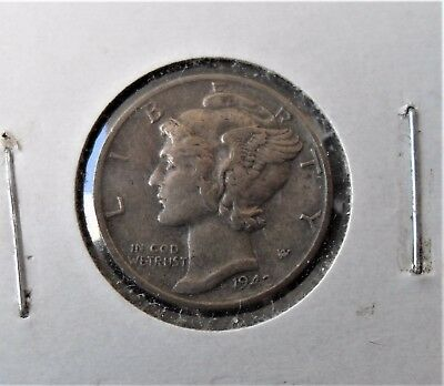 1942-P Silver Mercury Dime - Full Bands