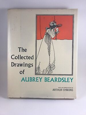 The Collected Drawings of Aubrey Beardsley Art Nouveau Book 1967 Erotica