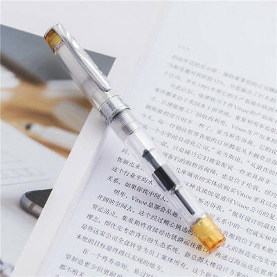 Chic Wing Sung 3003 Yellow Transparent Fountain Pen Extra Fine EF Nib 0.38mm New