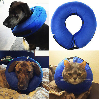 Pet Inflatable Collar Comfortable Protective Pet Large Dogs Cat Cone Size S M L