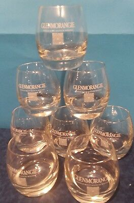 GLENMORANGIE Lot (8) Scotch Whiskey Rock Glasses Etched Tumblers, Cocktails