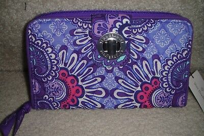 "Vera Bradley  Turn Lock Wallet ""lilac Tapestry"" Nwt  $54 Ret.  Retired  Pat"