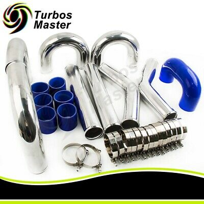 3INCH 76mm UNIVERSAL ALUMINUM INTERCOOLER TURBO PIPING KIT Pipe length 18 inch