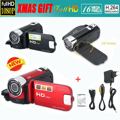 2.7'' 270° LCD 16X Full HD 1080P 16MP Zoom Digital Camcorder Video DV Camera SG