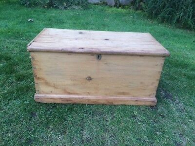 Victorian Rustic Pine Trunk / Box / Chest