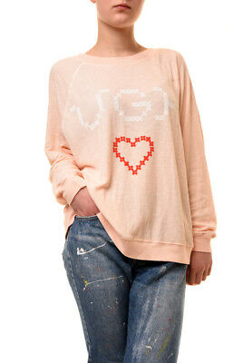 Wildfox Women/'s Time For Another Brunch Jumper Lavender Pink S RRP £95 BCF73